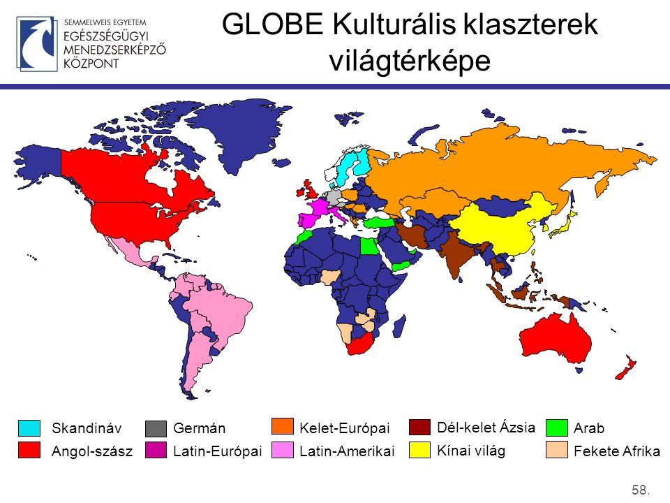 GLOBE Kulturális klaszterek világtérképe 58.