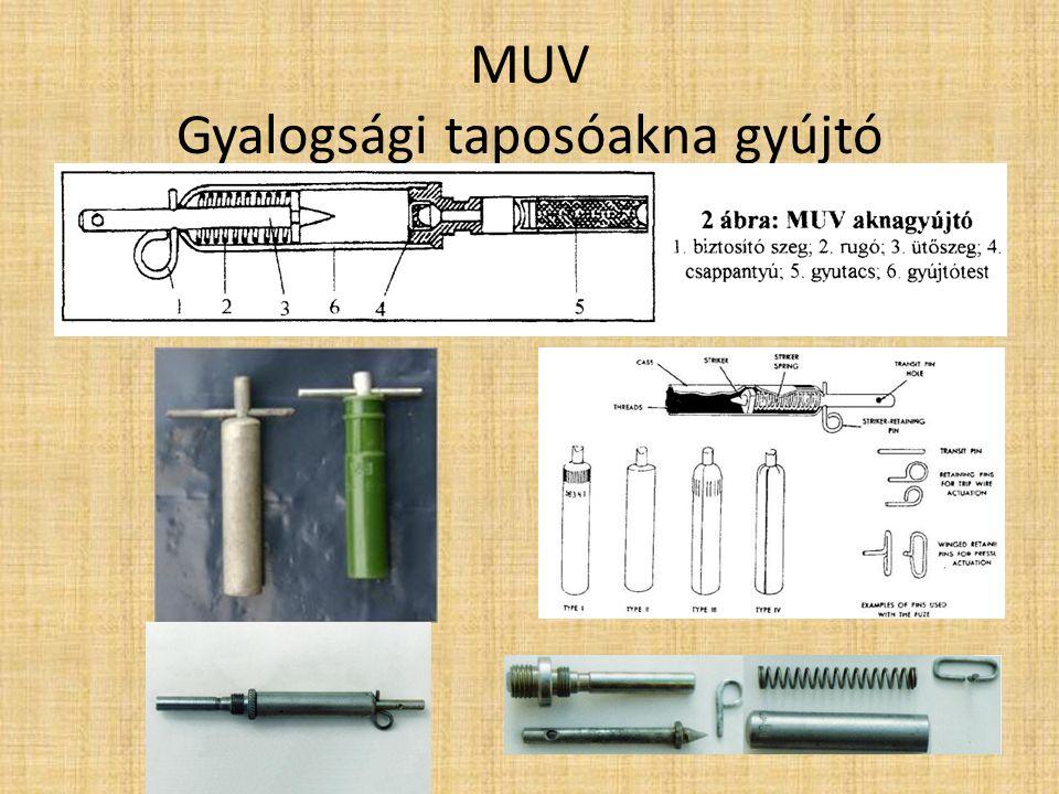 MON-90 Gyalogsági irányított repeszakna Technikai jellemzők: Tömeg 12.1 kg Hosszúság 345 mm Robbanóanyag 6.2 kg PVV-5A Plasztik (RDX bázisú) Magasság 202 mm Gyújtószerkezet MUV1-4, VPF, EDPr elektromos gyutacs, NM, MD-5M gyutaccsal Vastagság 153 mm MON-50 és MON-90