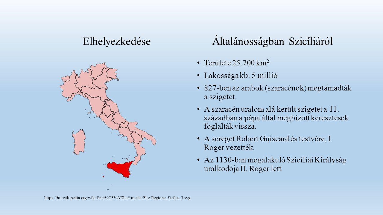 Területe 25.700 km 2 Lakossága kb. 5 millió 827-ben az arabok (szaracénok) megtámadták a szigetet.