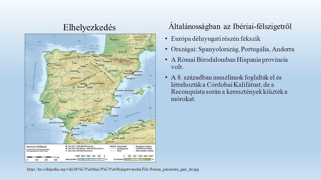 Európa délnyugati részén fekszik Országai: Spanyolország, Portugália, Andorra A Római Birodalomban Hispania provincia volt.