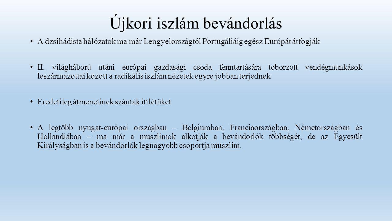 Újkori iszlám bevándorlás A dzsihádista hálózatok ma már Lengyelországtól Portugáliáig egész Európát átfogják II.