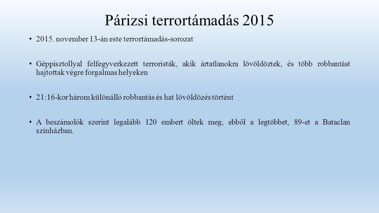 Párizsi terrortámadás 2015 2015.
