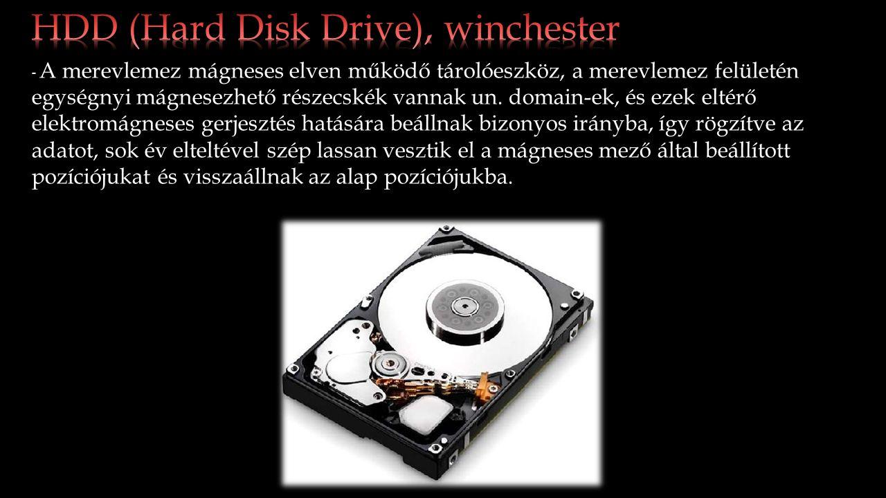 Előnyei: - Magas adat tároló kapacitása van 40GB-tól akár 8TB-ig terjedhet.
