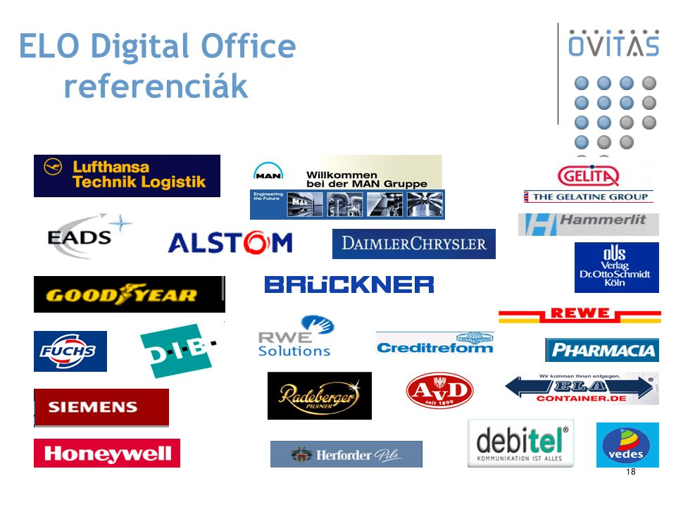 18 ELO Digital Office referenciák