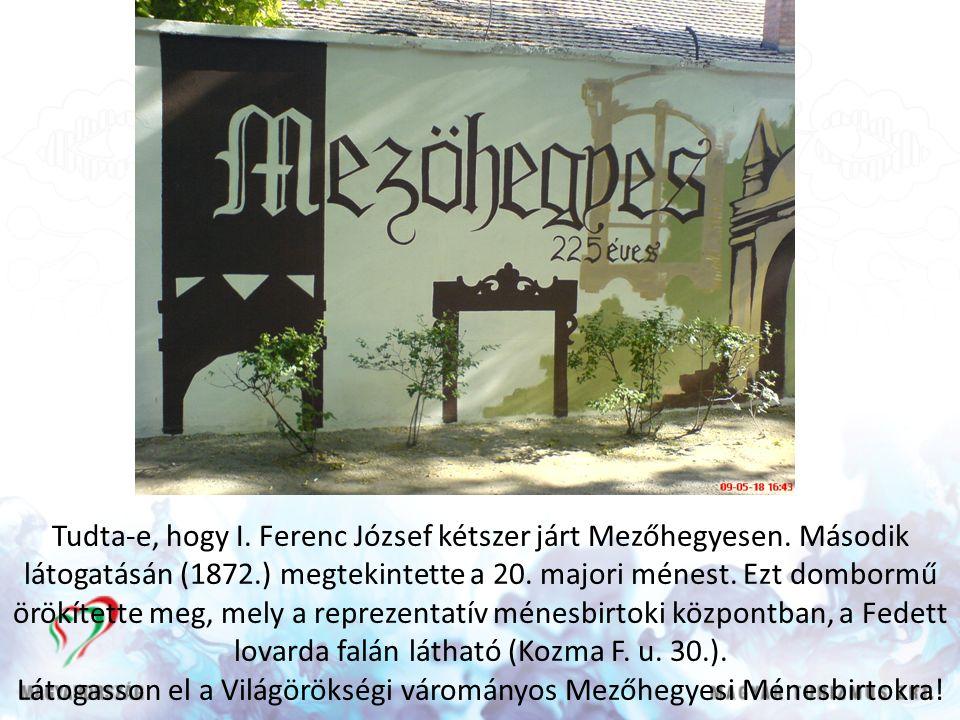Tudta-e, hogy I. Ferenc József kétszer járt Mezőhegyesen.