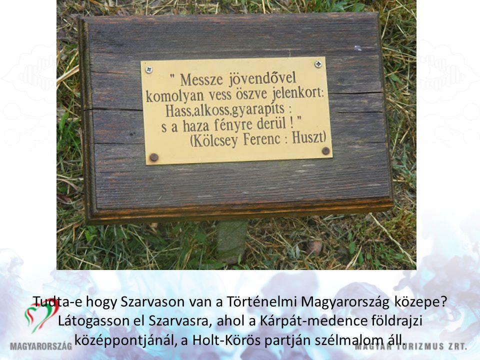 Tudta-e hogy Szarvason van a Történelmi Magyarország közepe.