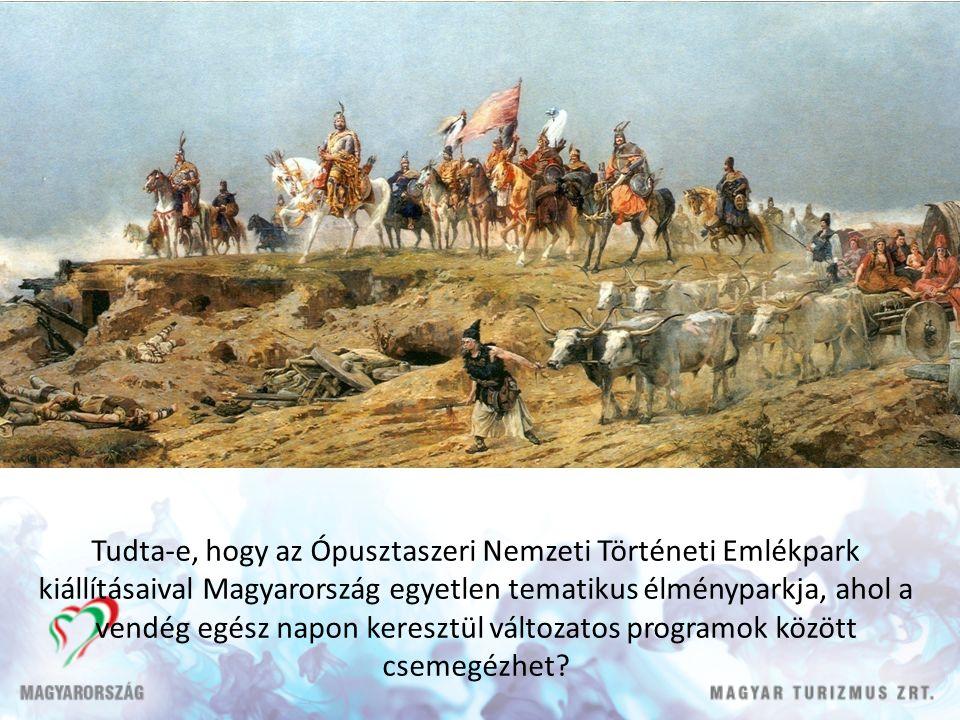 Tudta-e, hogy az Ópusztaszeri Nemzeti Történeti Emlékpark kiállításaival Magyarország egyetlen tematikus élményparkja, ahol a vendég egész napon keresztül változatos programok között csemegézhet