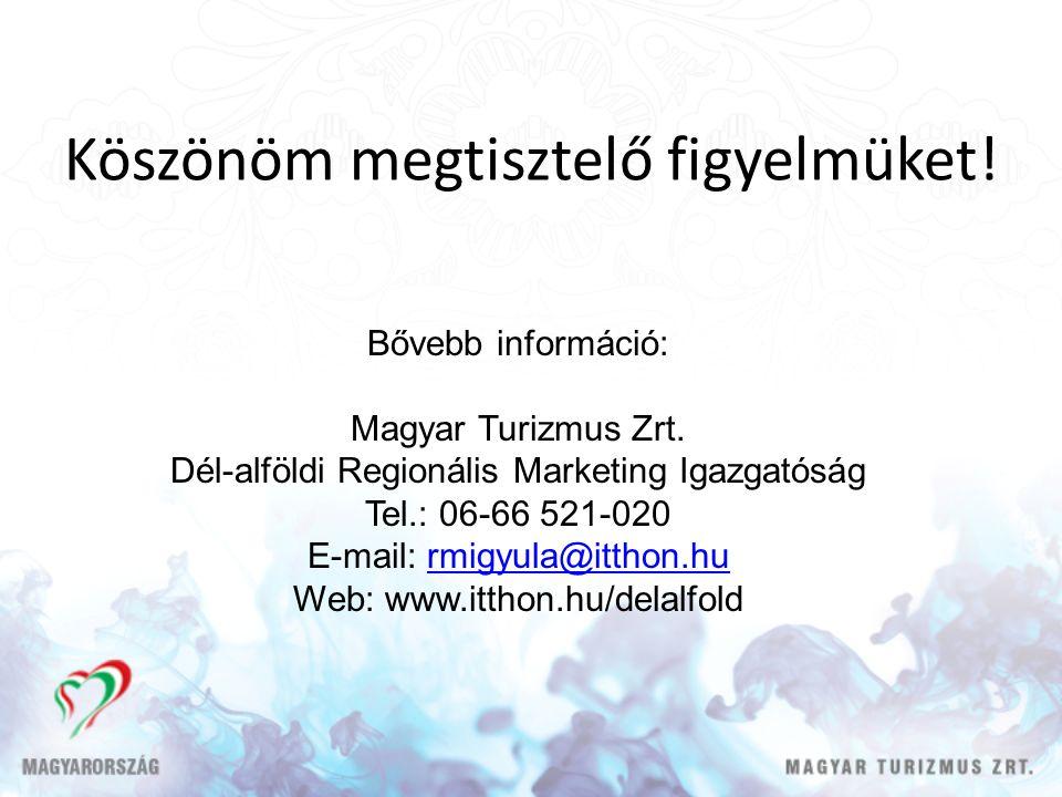 Köszönöm megtisztelő figyelmüket. Bővebb információ: Magyar Turizmus Zrt.