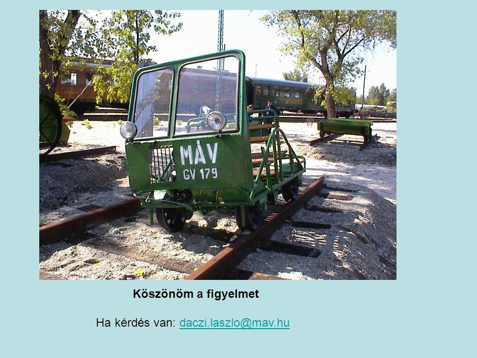 Köszönöm a figyelmet Ha kérdés van: daczi.laszlo@mav.hudaczi.laszlo@mav.hu