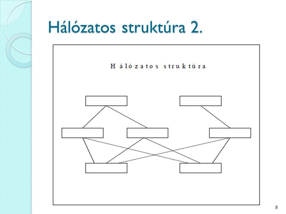 Hálózatos struktúra 2. 8
