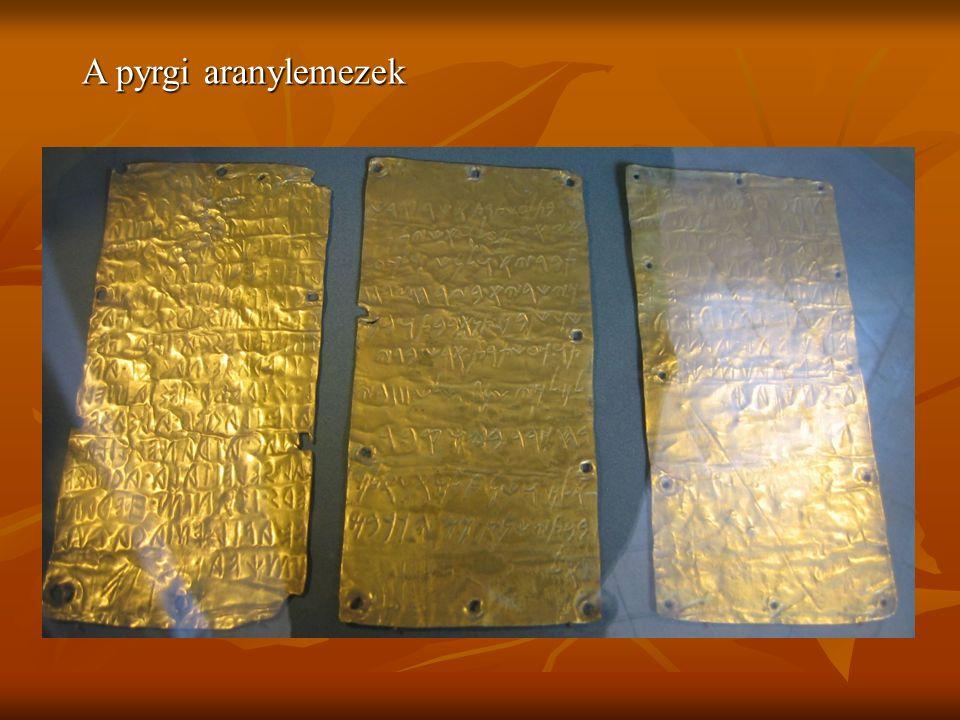 A pyrgi aranylemezek
