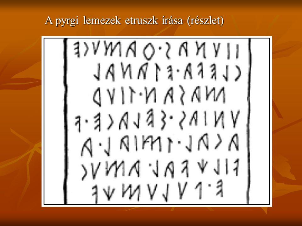 A pyrgi lemezek etruszk írása (részlet)