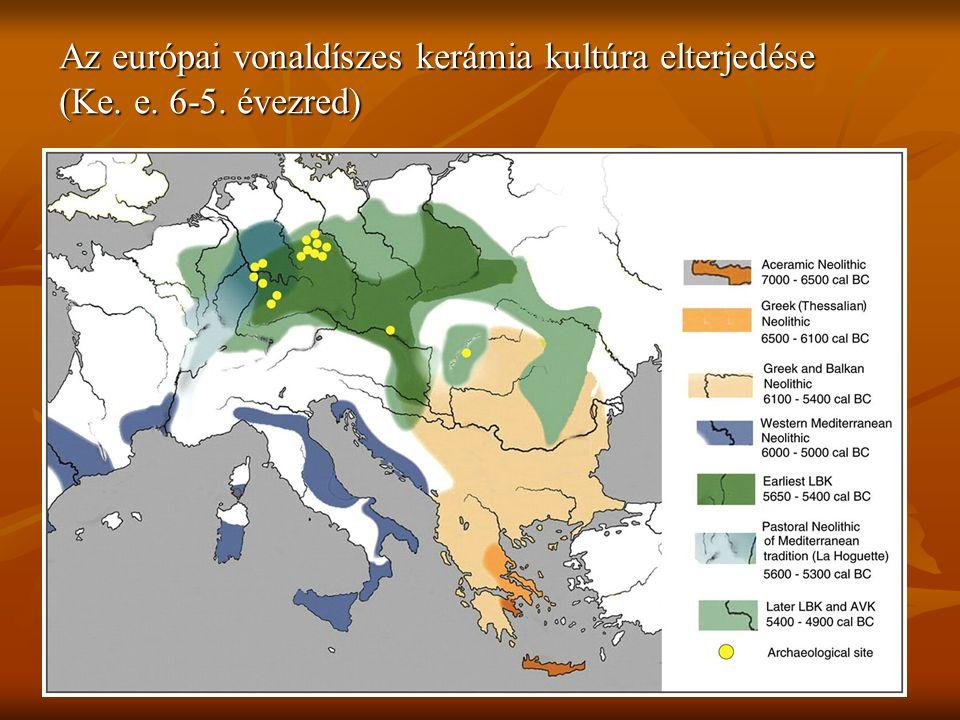 Az európai vonaldíszes kerámia kultúra elterjedése (Ke. e. 6-5. évezred)