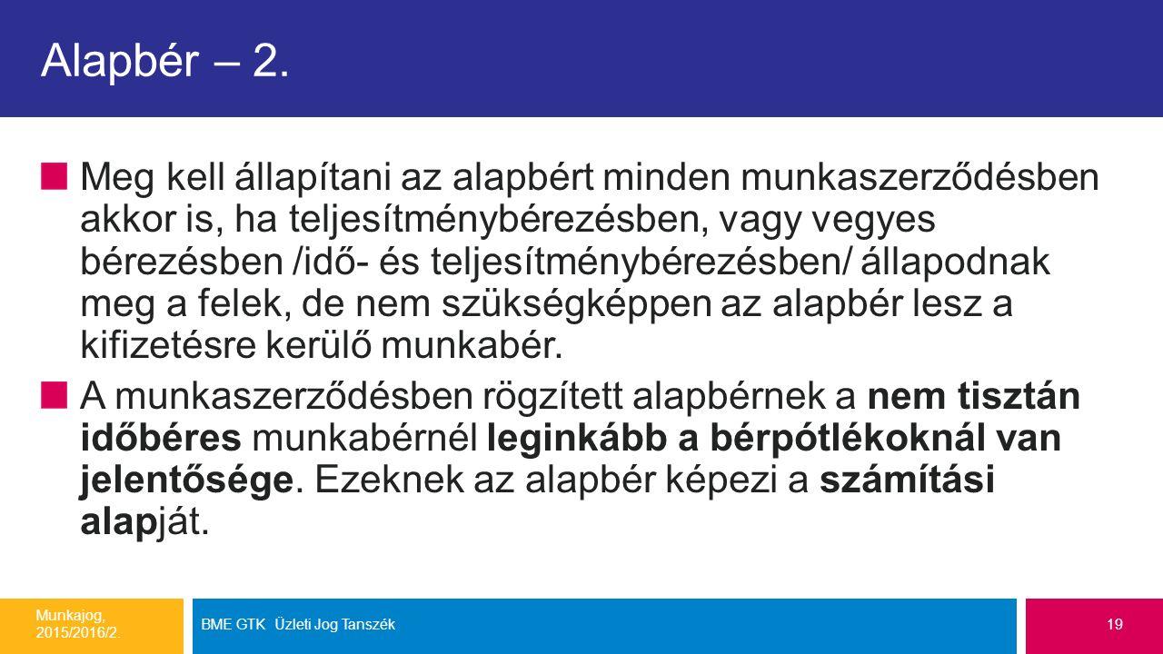 Alapbér – 2.