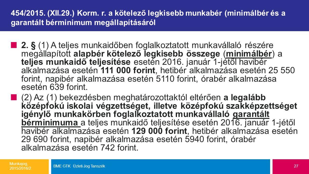454/2015. (XII.29.) Korm. r.