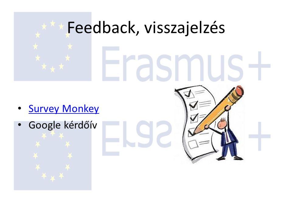 Feedback, visszajelzés Survey Monkey Google kérdőív