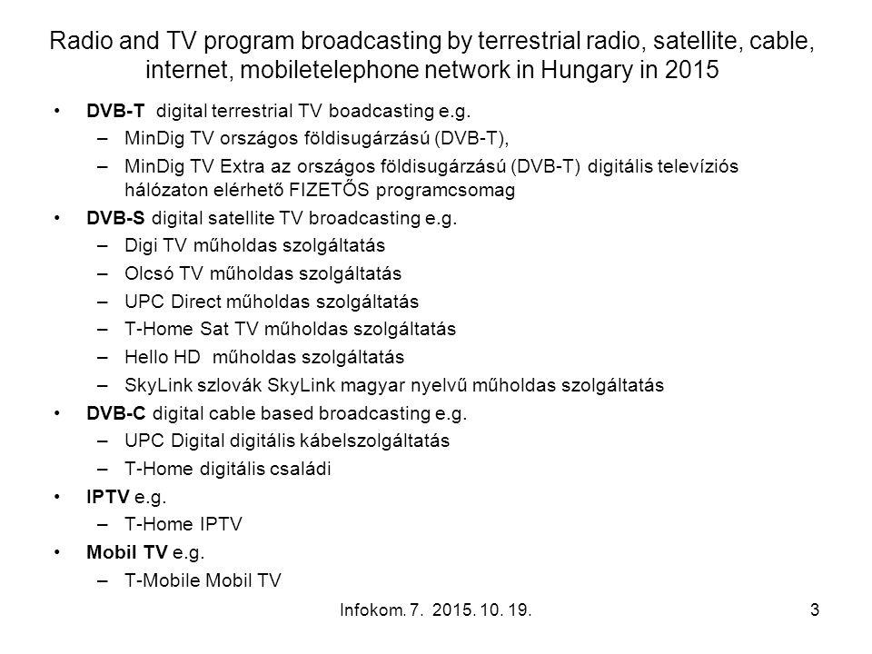 Key features of Digital Terrestrial TV Infokom.7.