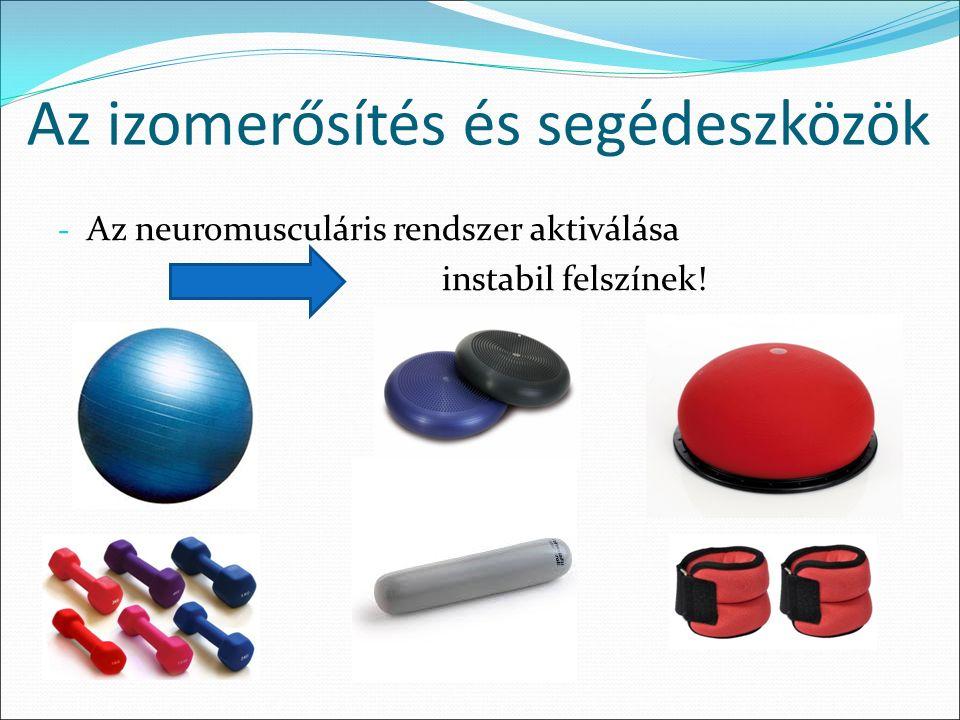 Az izomerősítés és segédeszközök - Az neuromusculáris rendszer aktiválása instabil felszínek!