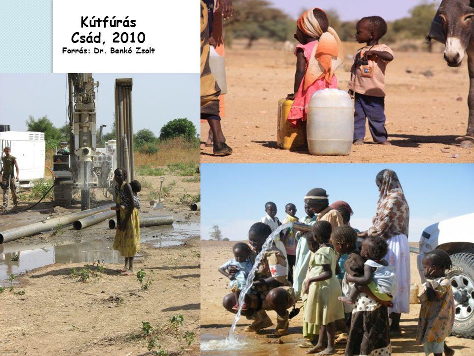 Kútfúrás Csád, 2010 Forrás: Dr. Benkó Zsolt