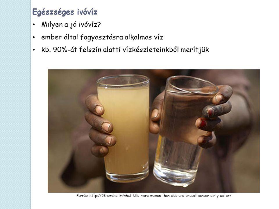 Forrás: http://92newshd.tv/what-kills-more-women-than-aids-and-breast-cancer-dirty-water/ Egészséges ivóvíz Milyen a jó ivóvíz? ember által fogyasztás