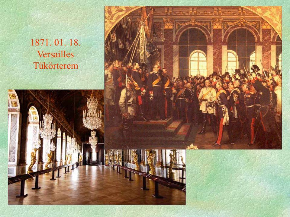 1871. 01. 18. Versailles Tükörterem