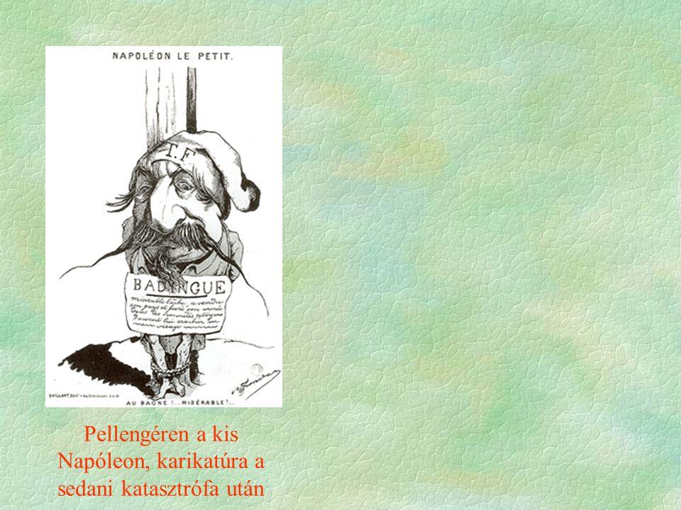 Pellengéren a kis Napóleon, karikatúra a sedani katasztrófa után