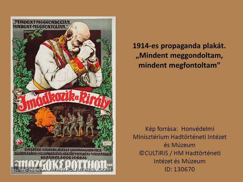 1914-es propaganda plakát.