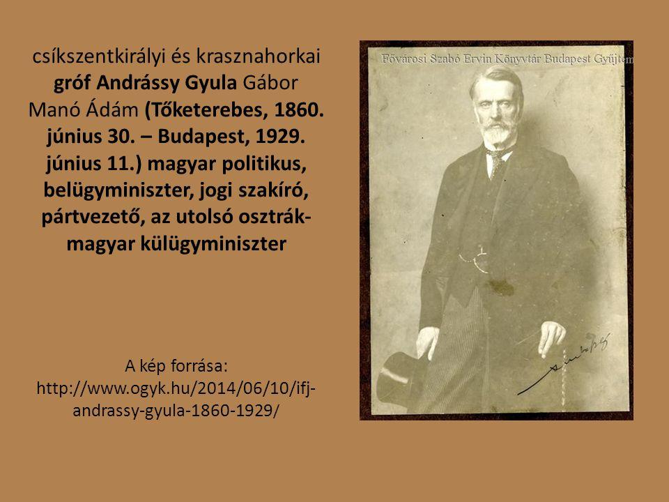 csíkszentkirályi és krasznahorkai gróf Andrássy Gyula Gábor Manó Ádám (Tőketerebes, 1860.