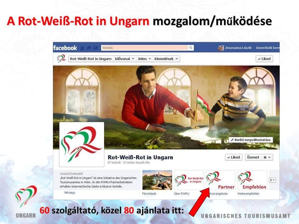 A Rot-Weiß-Rot in Ungarn mozgalom/m ű ködése 60 szolgáltató, közel 80 ajánlata itt: