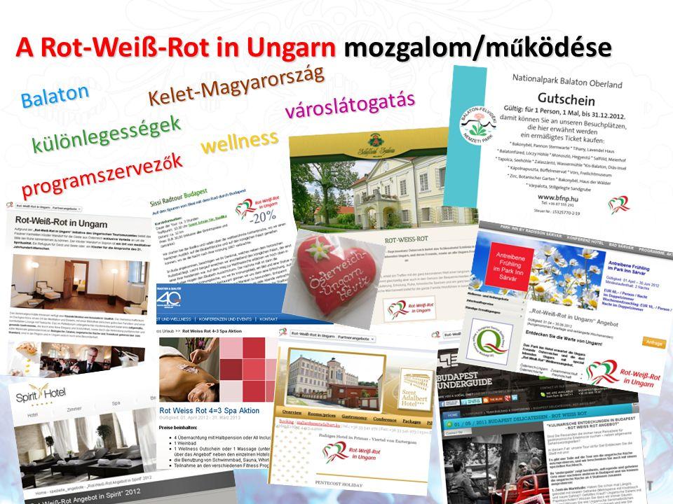 A Rot-Weiß-Rot in Ungarn mozgalom/m ű ködése városlátogatás wellness Balaton különlegességek programszervez ő k Kelet-Magyarország