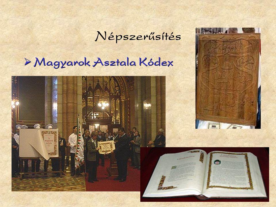 Népszerűsítés  Magyarok Asztala Kódex