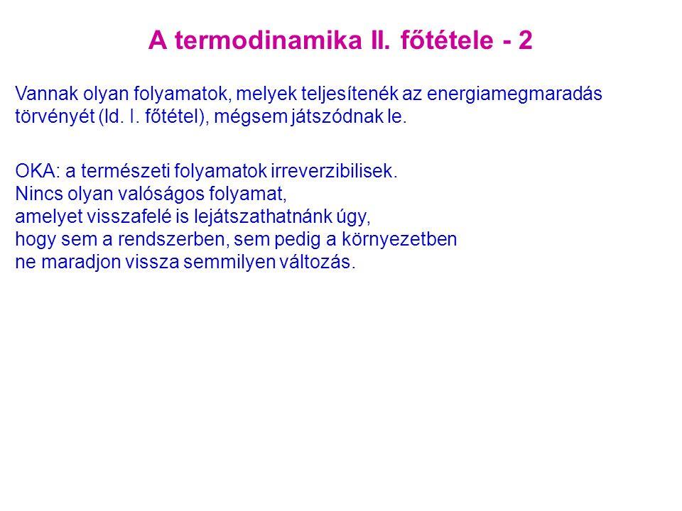 A termodinamika II.
