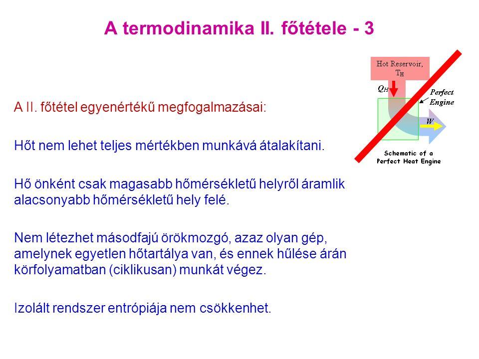 A termodinamika II. főtétele - 3 A II.