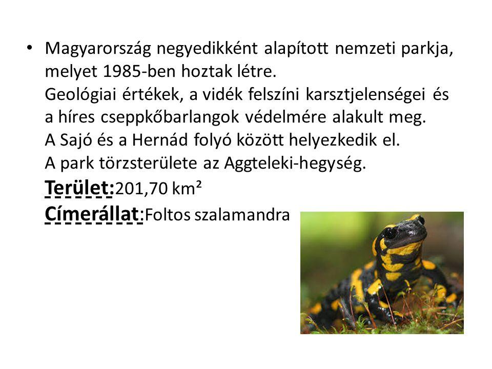 Magyarország negyedikként alapított nemzeti parkja, melyet 1985-ben hoztak létre. Geológiai értékek, a vidék felszíni karsztjelenségei és a híres csep