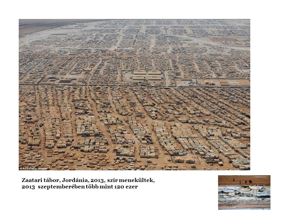Zaatari tábor, Jordánia, 2013, szír menekültek, 2013 szeptemberében több mint 120 ezer