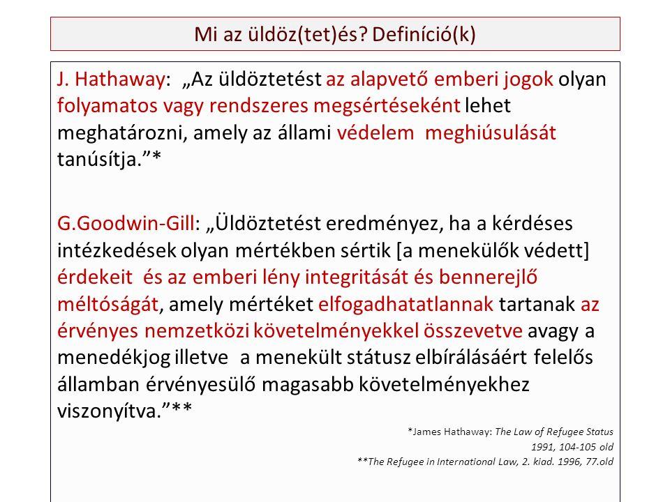 Mi az üldöz(tet)és. Definíció(k) J.