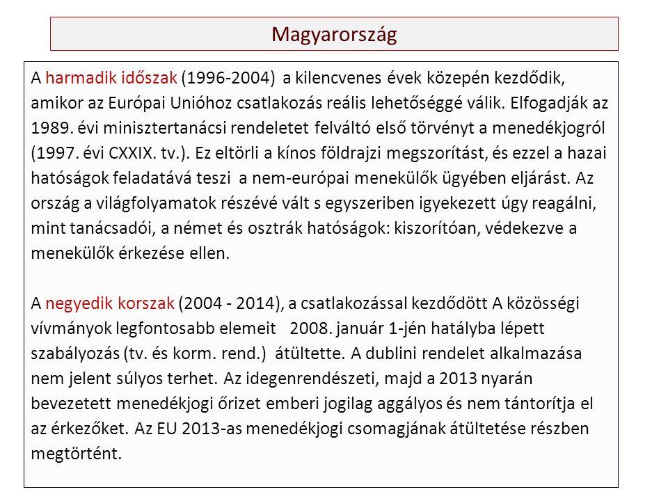 Magyarország A harmadik időszak (1996-2004) a kilencvenes évek közepén kezdődik, amikor az Európai Unióhoz csatlakozás reális lehetőséggé válik.