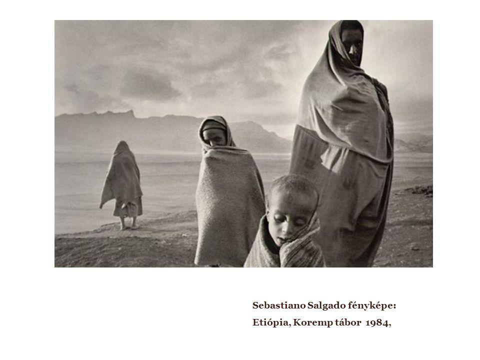 Sebastiano Salgado fényképe: Etiópia, Koremp tábor 1984,