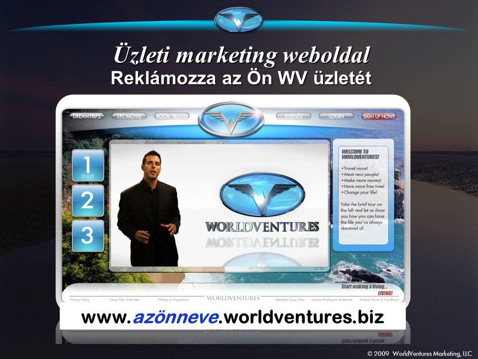 Üzleti marketing weboldal www.azönneve.worldventures.biz Reklámozza az Ön WV üzletét