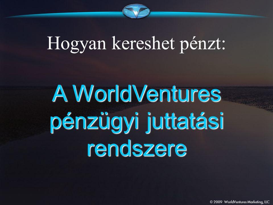 Hogyan kereshet pénzt: A WorldVentures pénzügyi juttatási rendszere
