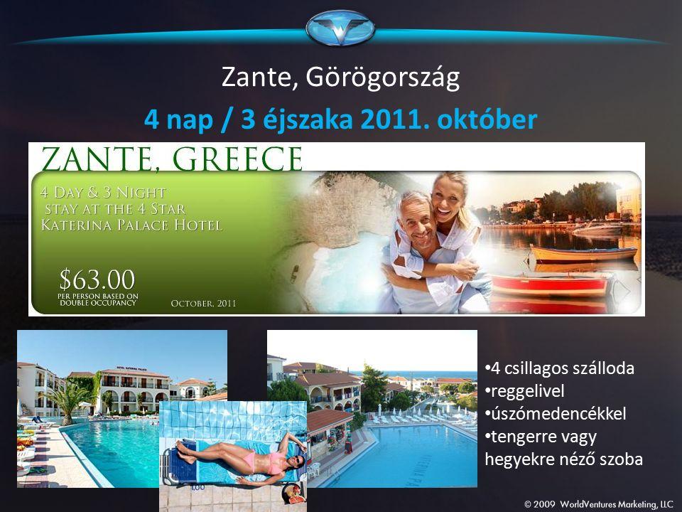 Zante, Görögország 4 nap / 3 éjszaka 2011. október 4 csillagos szálloda reggelivel úszómedencékkel tengerre vagy hegyekre néző szoba