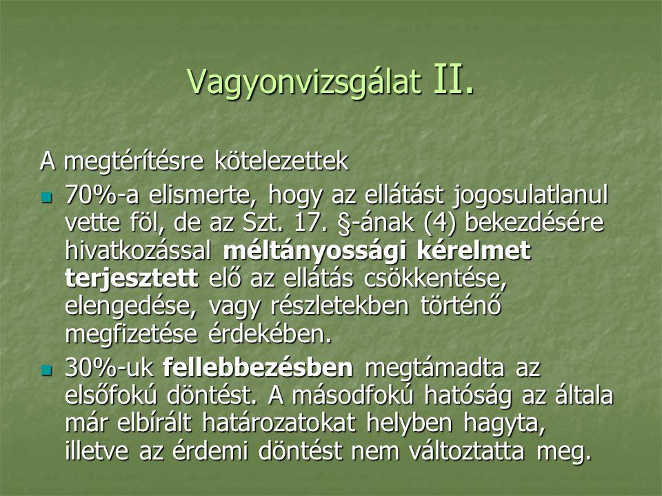 Vagyonvizsgálat II.