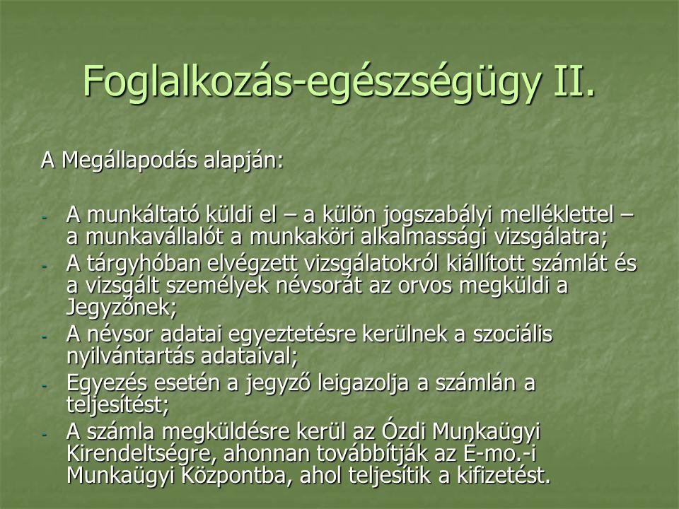 Foglalkozás-egészségügy II.