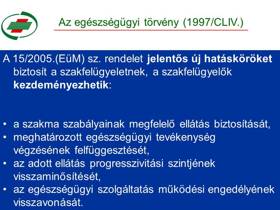 A 15/2005.(EüM) sz.