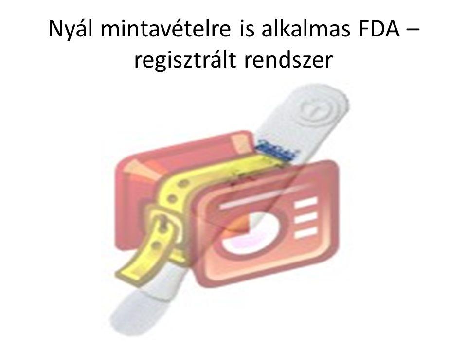 Nyál mintavételre is alkalmas FDA – regisztrált rendszer
