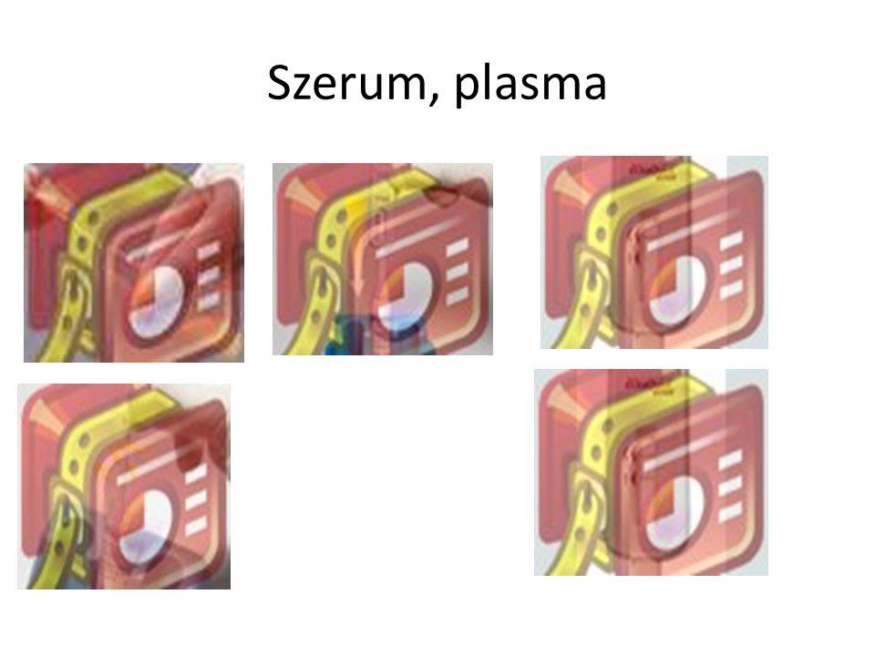 Szerum, plasma