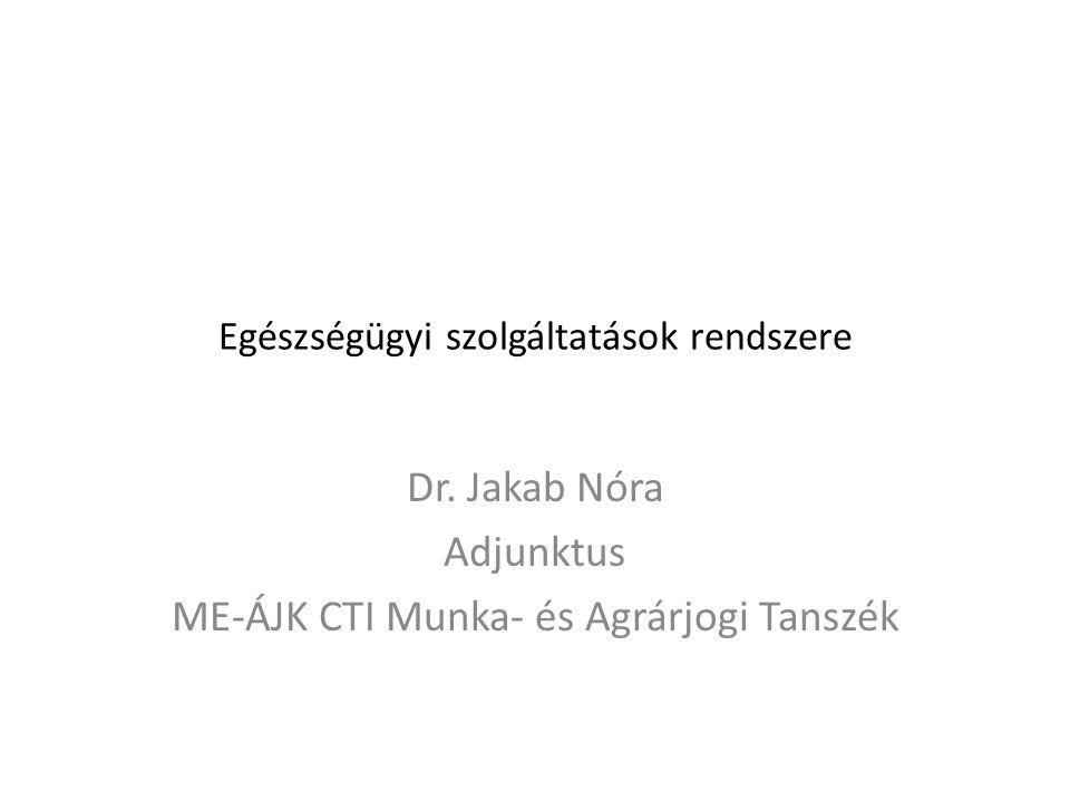 Egészségügyi szolgáltatások rendszere Dr.
