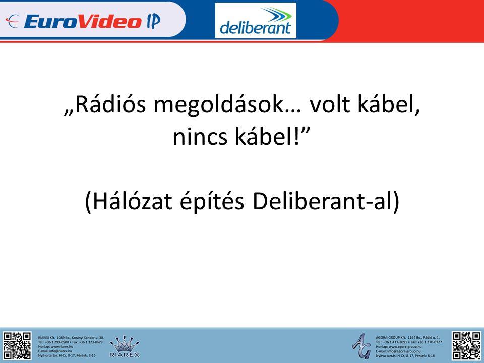 Az előadás menete: -Bevezetés -Miért Deliberant -Deliberant eszközök -Egy fiktív térfigyelő rendszer megtervezése, kivitelezése -Telepítési buktatók -Összefoglalás
