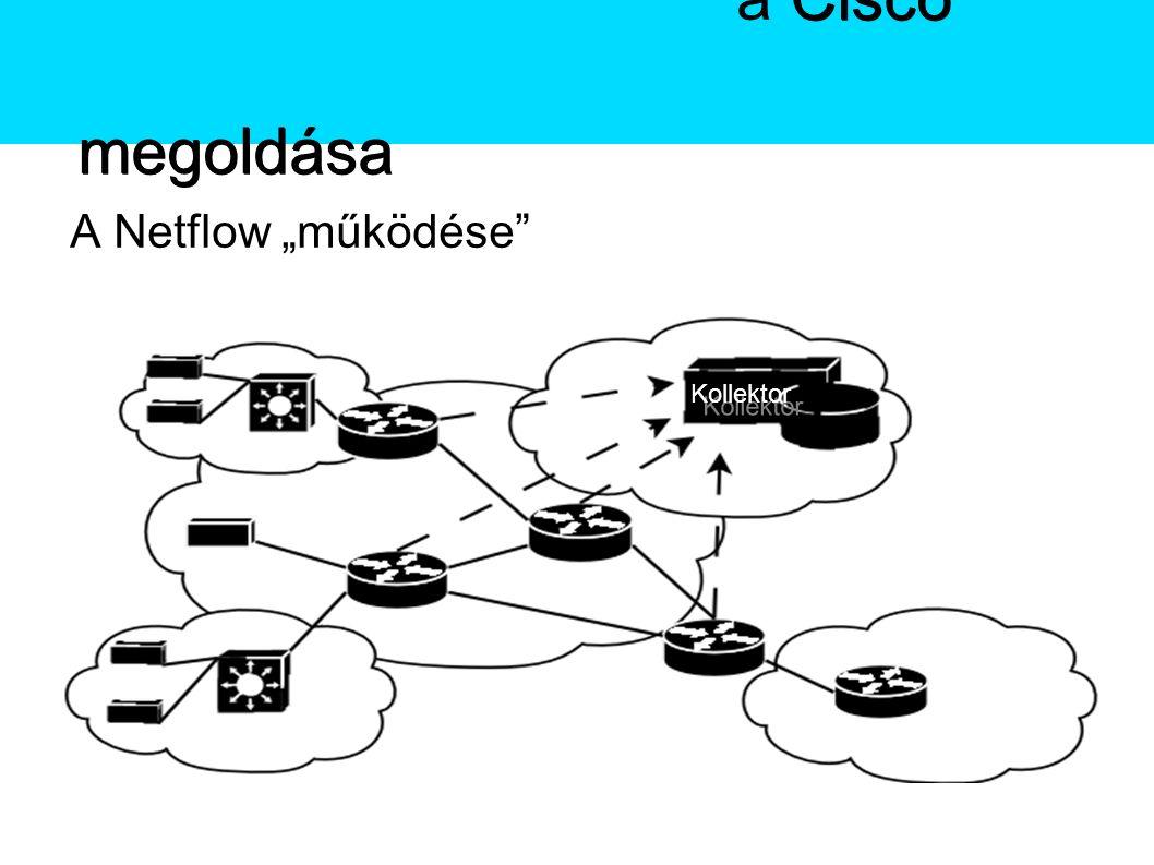"""A Netflow A Netflow """"működése A Netflow Cisco megoldása A Netflowa Cisco megoldása Kollektor"""