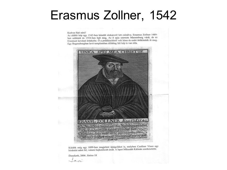 Erasmus Zollner, 1542